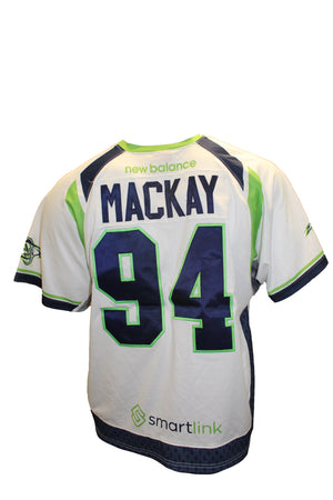 2018 Ian MacKay Game-Worn White Jersey