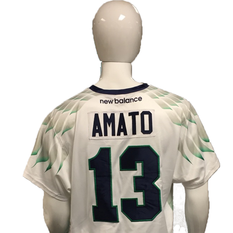Niko Amato Game-Worn White Jersey