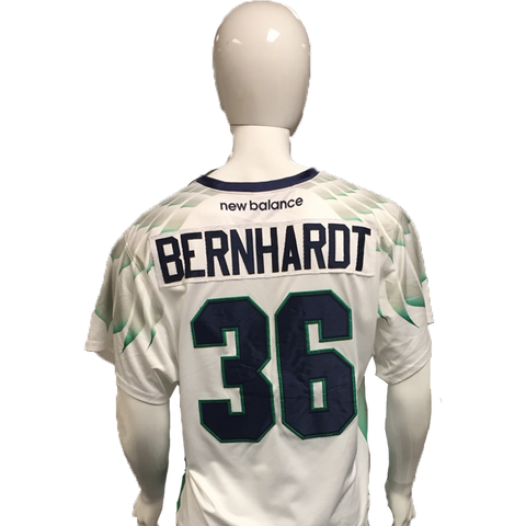 Jesse Bernhardt Game-Worn White Jersey
