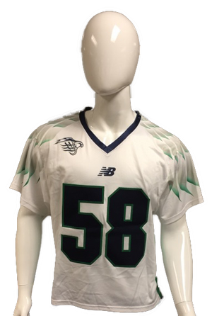 Matt Bertrams Game-Worn White Jersey