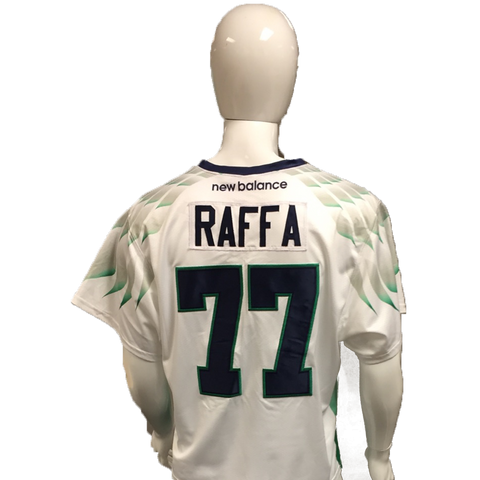 Charlie Raffa Game-Worn White Jersey