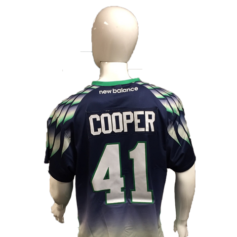 Kevin Cooper Game-Worn Blue Jersey
