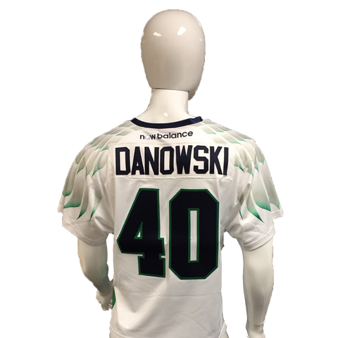 Matt Danowski Game-Worn White Jersey
