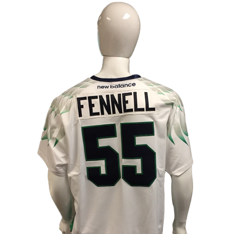 Chris Fennell Game-Worn White Jersey