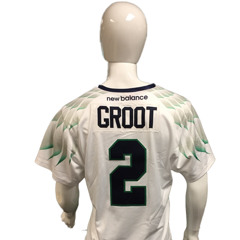 Dan Groot Game-Worn White Jersey