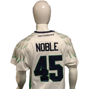 Jason Noble Game-Worn White Jersey