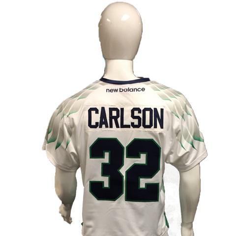 Jay Carlson Game-Worn White Jersey