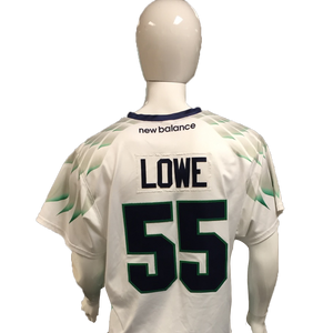 Mike Lowe Game-Worn White Jersey