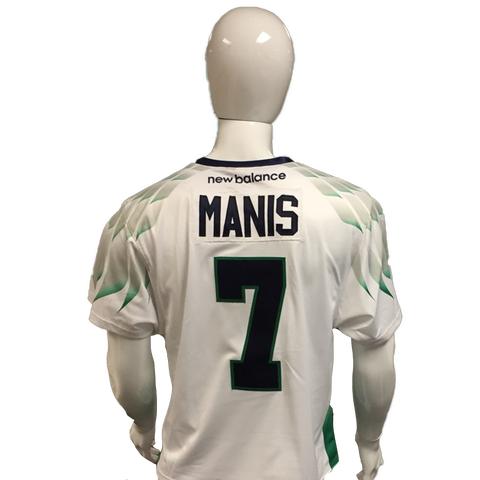 Nick Manis Game-Worn White Jersey