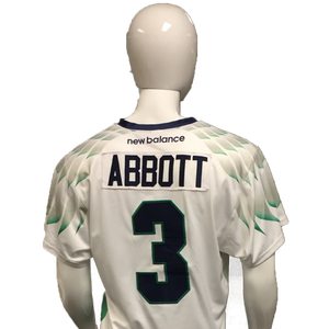 Matt Abbott Game-Worn White Jersey