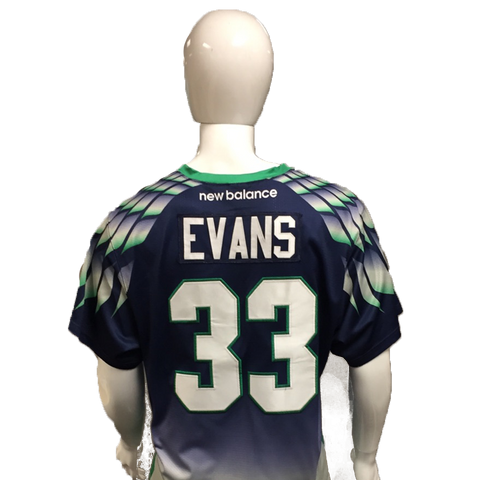 Mike Evans Game-Worn Blue Jersey