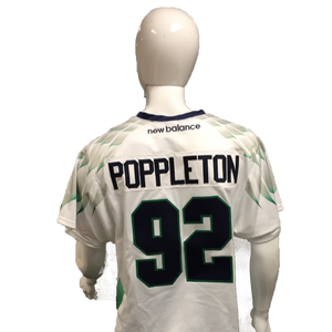 Mike Poppleton Game-Worn White Jersey