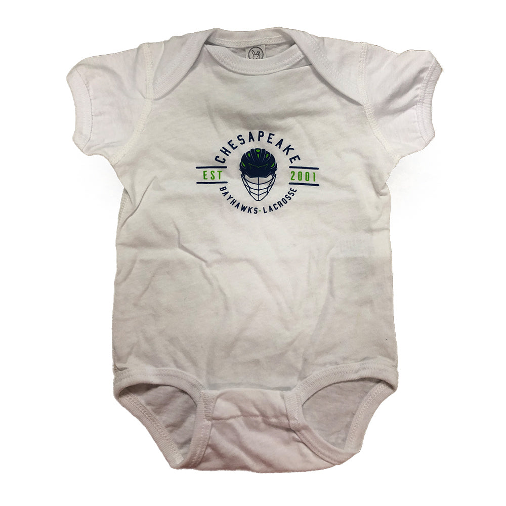 Baby Hawks Rep The Helmet Onesie