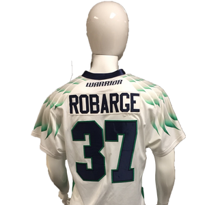 Stephen Robarge Game-Worn White Jersey