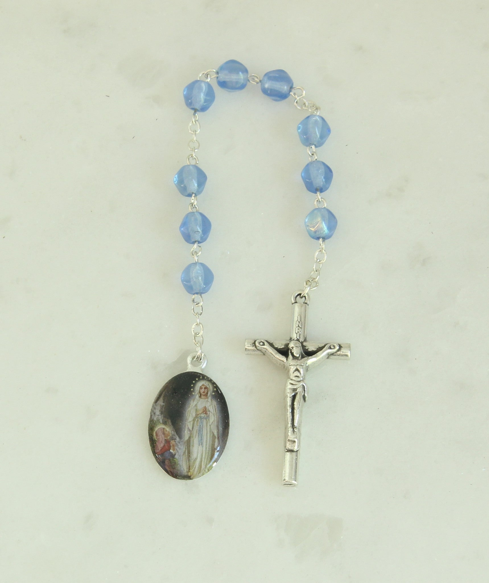 Our Lady of Lourdes Chaplet/Rosary PS348 - Spiritus Dei Religious Gifts - 1