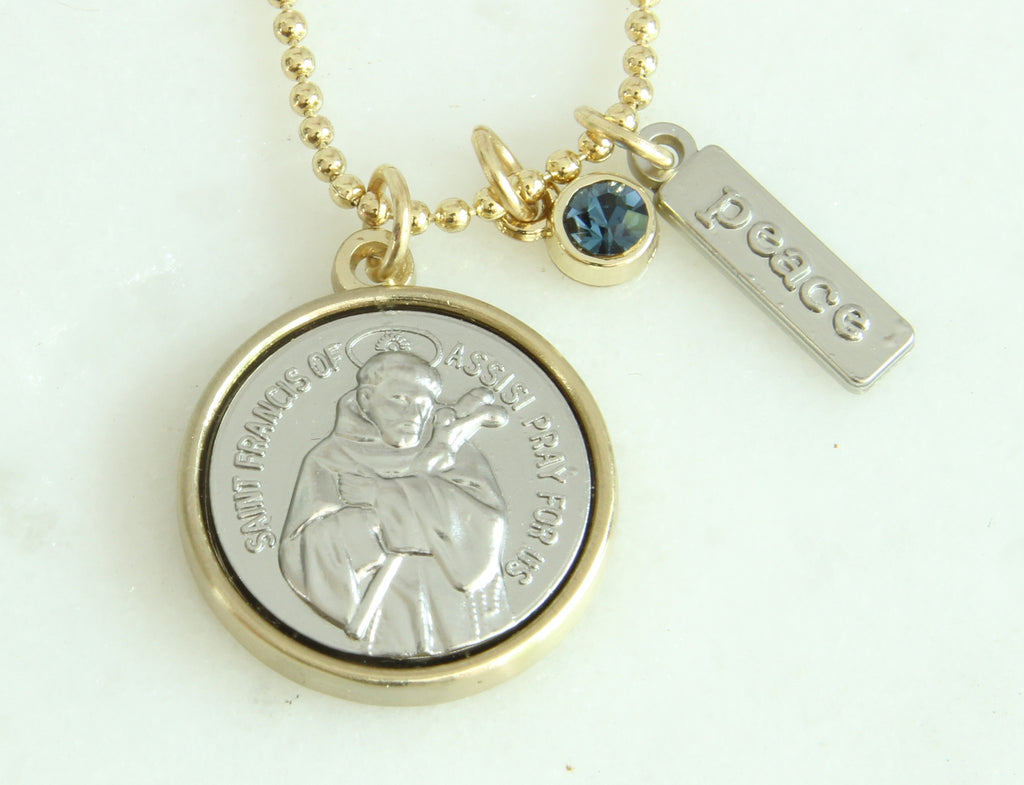 medallion with necklace peter our of guadalupe catholic st vatican gifts postcard lady collection free gold