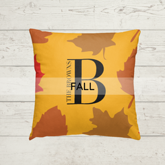 fall personalized pillow