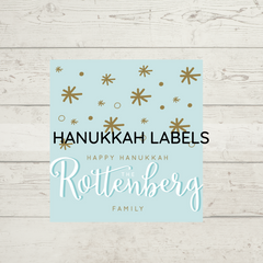 hannukkah personalized labels