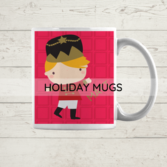 holiday personalized mugs