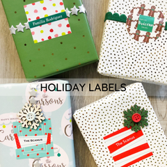 holiday personalized labels