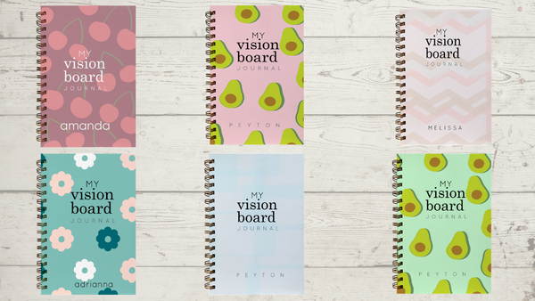 Personalized Vision Board Journals