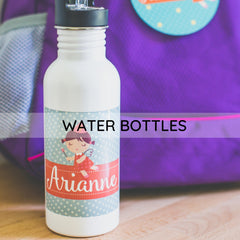 personalized water bottles for back to school