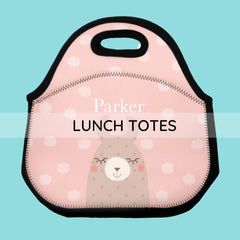 personalized neoprene lunch totes