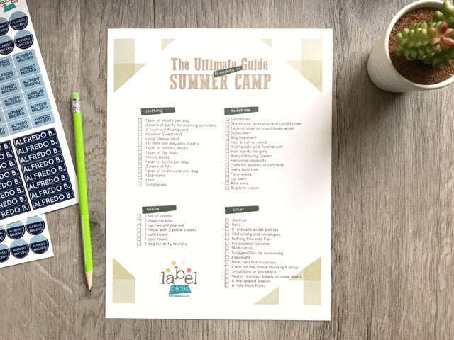 Sending a kid to camp? Don't forge the bug spray! Grab the Ultimate Guide to Packing for Summer Camp here!