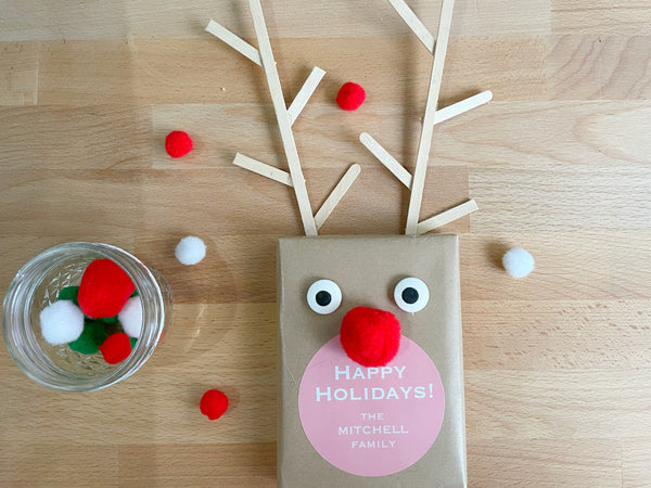 DIY Easy Rudolph the Red Nose Reindeer Gift Box