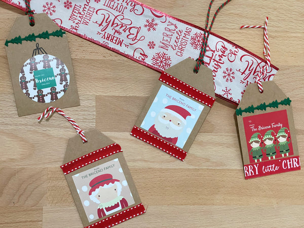 DIY Easy personalized  Christmas gift tags