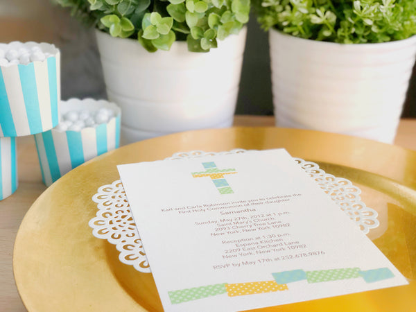 Personalized First communion invitation