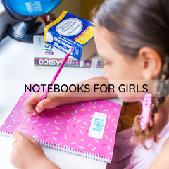 Personalized notebooks for girls