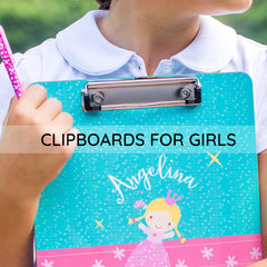 Personalized clipboards for girls