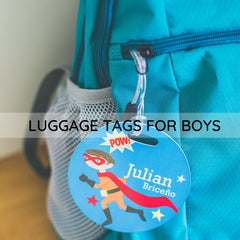 luggage tags for boys