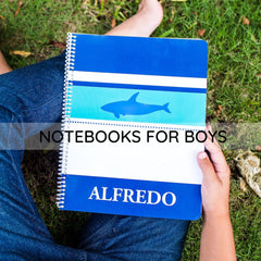 Personalized notebooks for boys