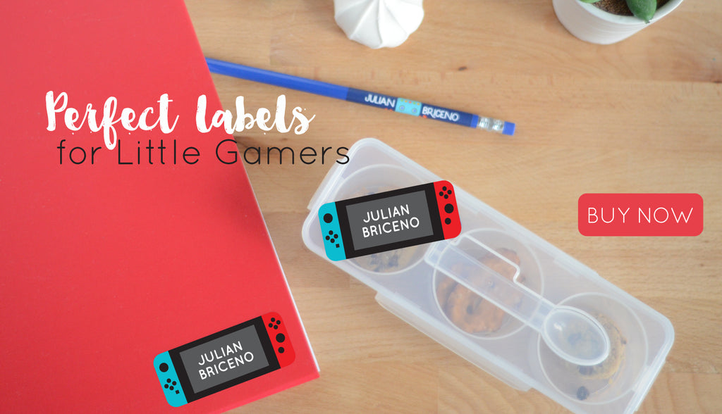 Personalized Water resistant labels for back to school