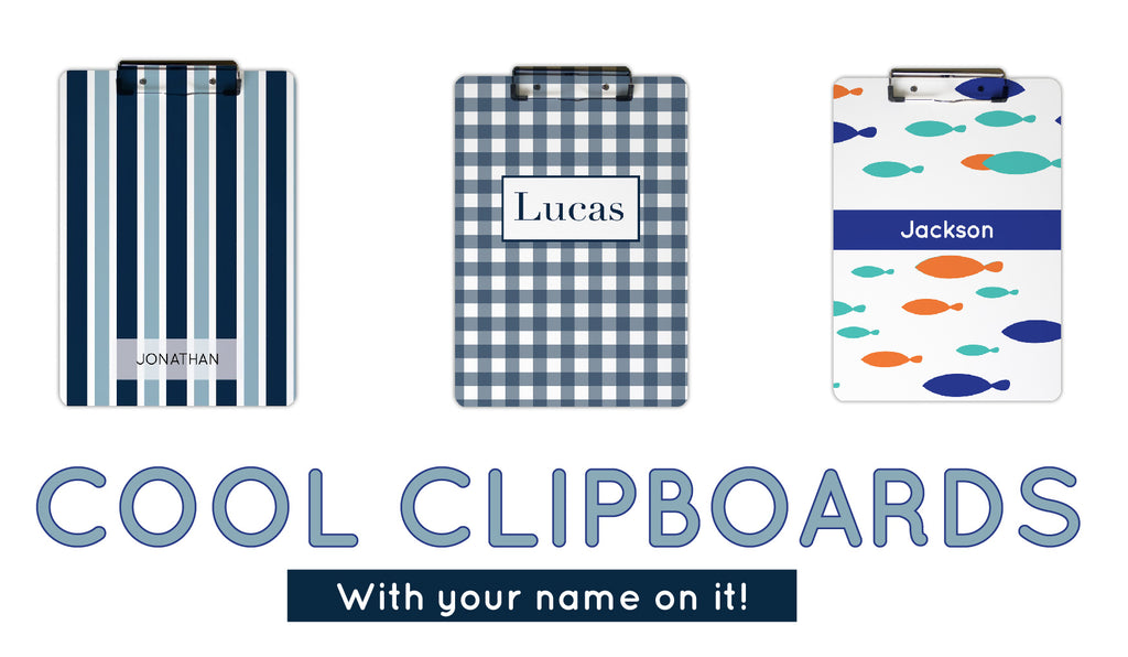 Personalized clipboards for boys
