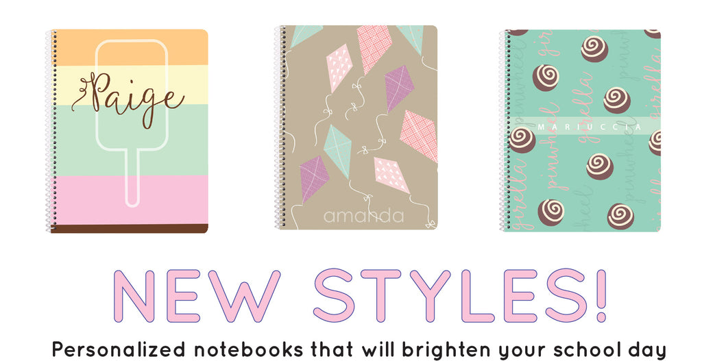 Personalized back to school Notebooks for girls