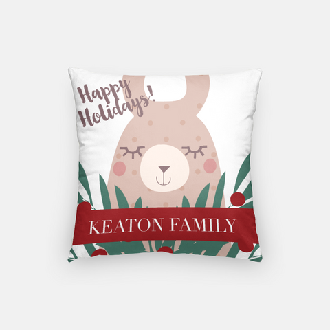 holiday LLama pillow cover personalized