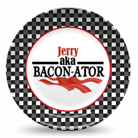 personalized plate for dad bacon plate for dad
