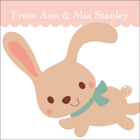 Bunny Gift Label