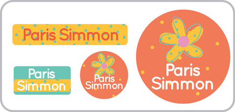 Orange Daisy Everyday Labels