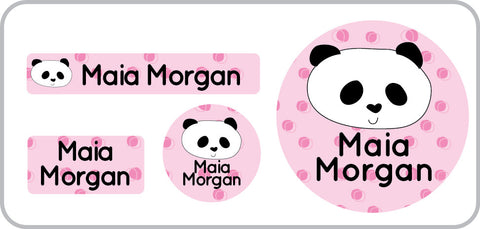 Panda waterproof personalized clothing label,panda lunch container label