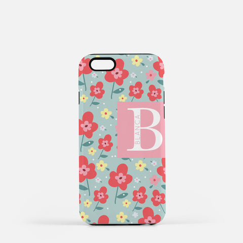 Mint Floral Iphone 7/7 plus Floral Case
