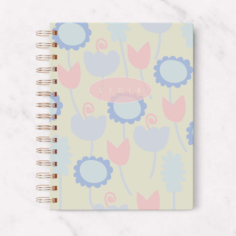 floral hardcover personalized blank planner