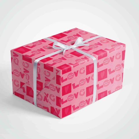 personalized valentine day wrapping paper