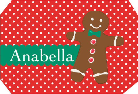 Gingerbread Man Placemat