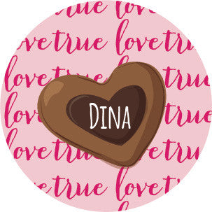 Chocolate Heart Label