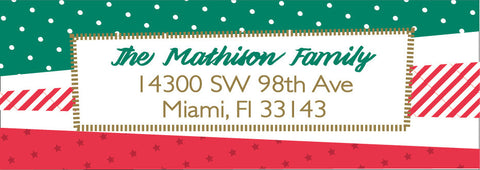 Holiday Paper Scraps Address Label