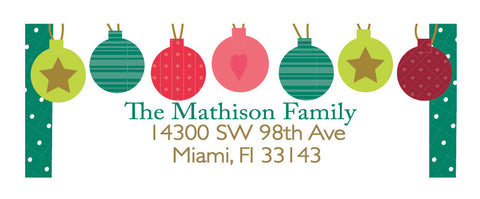 Holiday Ornaments Address Label